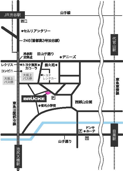 ブリュッケ アクセスマップ